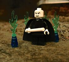 LEGO Voldemort Among Green Flames by ArtShopEtc