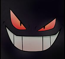 Dark Gengar - Minimal Pokemon Art Poster by Jorden Tually