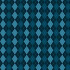 Colligiate Preppy Dark Blue Argyle Pattern by Cierra Doran