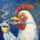 Giant Coffee Drinking Chicken by © Cindy Schnackel