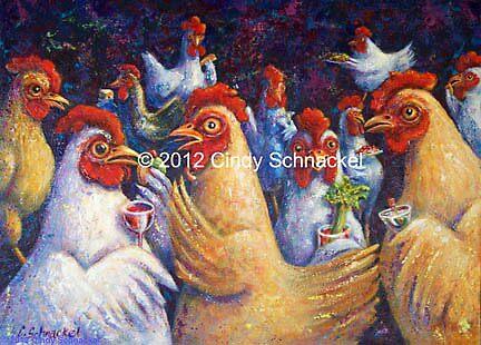 Hen Party by Cindy Schnackel