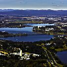 Canberra from Black Mountain Tower by Peter Gray