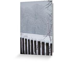 A Wild Snow Scene in a Forest Greeting Card