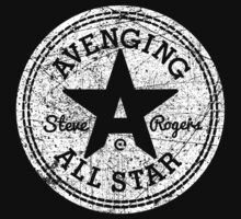 Avenging All Star (White Distressed) by Eozen
