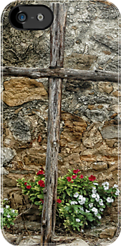 Wooden Cross by Colleen Drew
