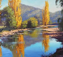 Golden Poplars Tumut River, Australia by Graham Gercken