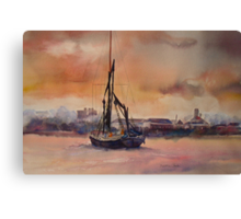 At rest on the Thames Canvas Print