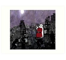 Santa in the Civil War   Art Print