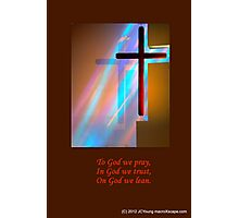 The Amazing Shining Cross Photographic Print