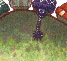 Green Stegosaurus Derposaur with Hats Sticker