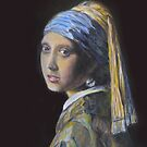 Vermeer Reproduction of Girl with Golden Earring by Patrick  McMullen