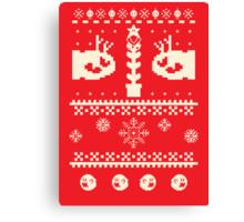 Ugly Mario Christmas Sweater Canvas Print
