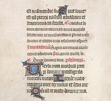 Medieval Illuminated Manuscript by SexyCodicology