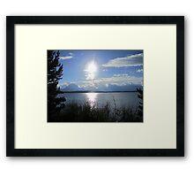 Dark Sun Lake Framed Print