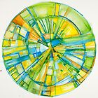 Slice of Pi, Meditation Mandala Series by Danielle David Grinnen