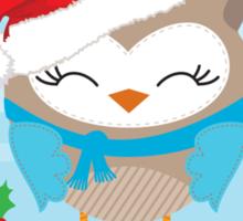 FESTIVE CHRISTMAS T-SHIRT :: boy owl day time Sticker