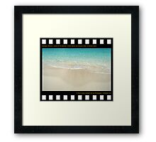 Nostalgia Collection • Islands of The Bahamas • Pristine Beach and Turquoise Water on Paradise Island Framed Print