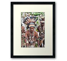 Old Papua Dancer  Framed Print