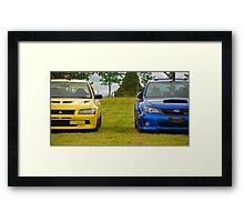 Rally Rivals Framed Print
