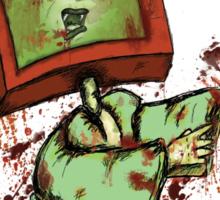 Television Zombie Sticker