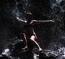Embarrassing the World. Anna at Eureka Waterfalls, Mauritius by JennyRainbow