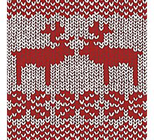Christmas Jumper Red on White Photographic Print