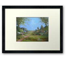 A Hobbits Adventure (late for an appointment) Framed Print