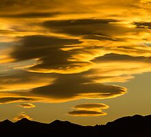 Flying Saucer Sunset by Gregory J Summers