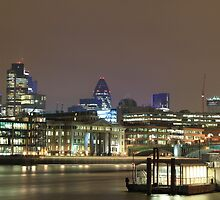 City of London over the Thames, England, UK by Justin Mitchell