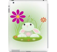 Little Green Baby Bunny With Flowers iPad Case/Skin