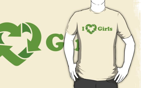 I love Girls - Recycle Heart by hardwear