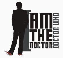 Doctor Who - I am the Doctor (TEN) (bright textiles) by glassCurtain