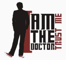 Doctor Who - I am the Doctor | Trust me (TEN) (bright textiles) by glassCurtain