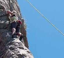 rock climbing by Anne Scantlebury