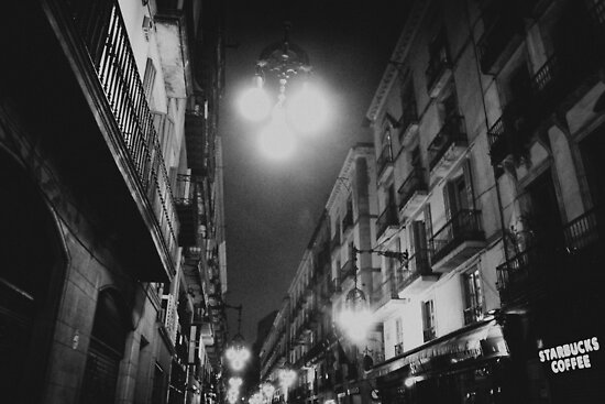 street in night by kavolis
