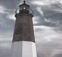 Point Judith Lighthouse by Nancy de Flon