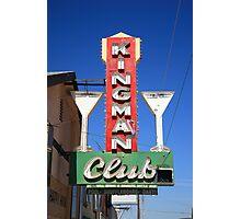 Route 66 - Kingman Club Photographic Print