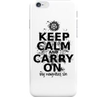 Keep Calm - SPN Style iPhone Case/Skin
