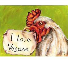 I Love Vegans! Photographic Print