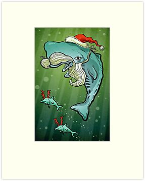 Christmas Whale by Richard Morden