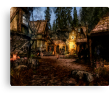 Quiet Little Village Canvas Print