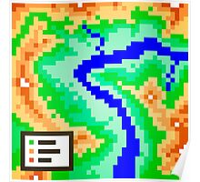 Pixel Topography Poster
