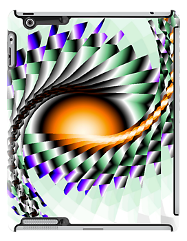 Sunrise Fractal iPad case by Dennis Melling