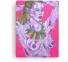 Nude on Pink Ground Canvas Print