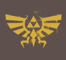 Zelda Eagle Triforce Graffiti Art (Gold) by SFC-Guy