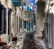 Mykonos Street - iPad Case by Tom Gomez