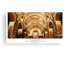 The Home of the Knights Canvas Print
