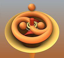 Ying and Yang, free 3-d interpretation by walstraasart