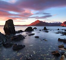 Elgol Sunset . Loch Scavaig. Isle of Skye. Scotland. by photosecosse /barbara jones