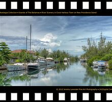 Nostalgia Collection • Islands of The Bahamas • River Scenery in Coral Harbour Town on New Providence Island by 242Digital